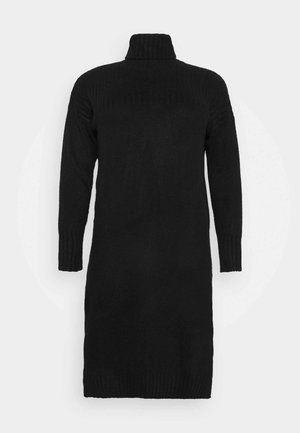 YOKE ROLL NECK SWEATER DRESS - Strikkegenser - black
