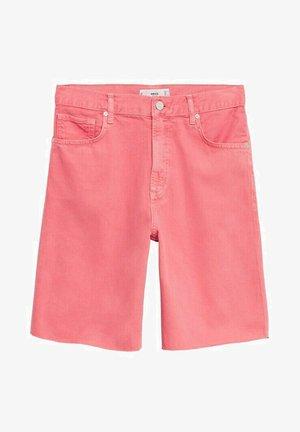 FRAYED HEM - Shorts di jeans - fuchsia
