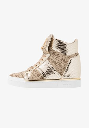 FREETA - High-top trainers - beige/brown