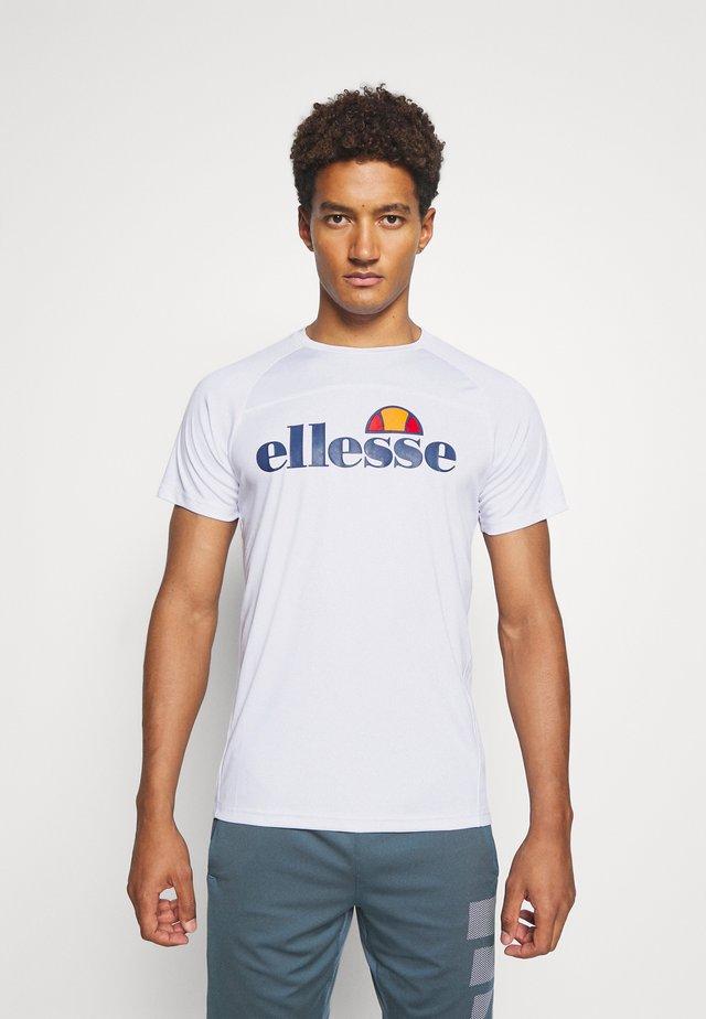 GIZIO - T-shirt con stampa - white