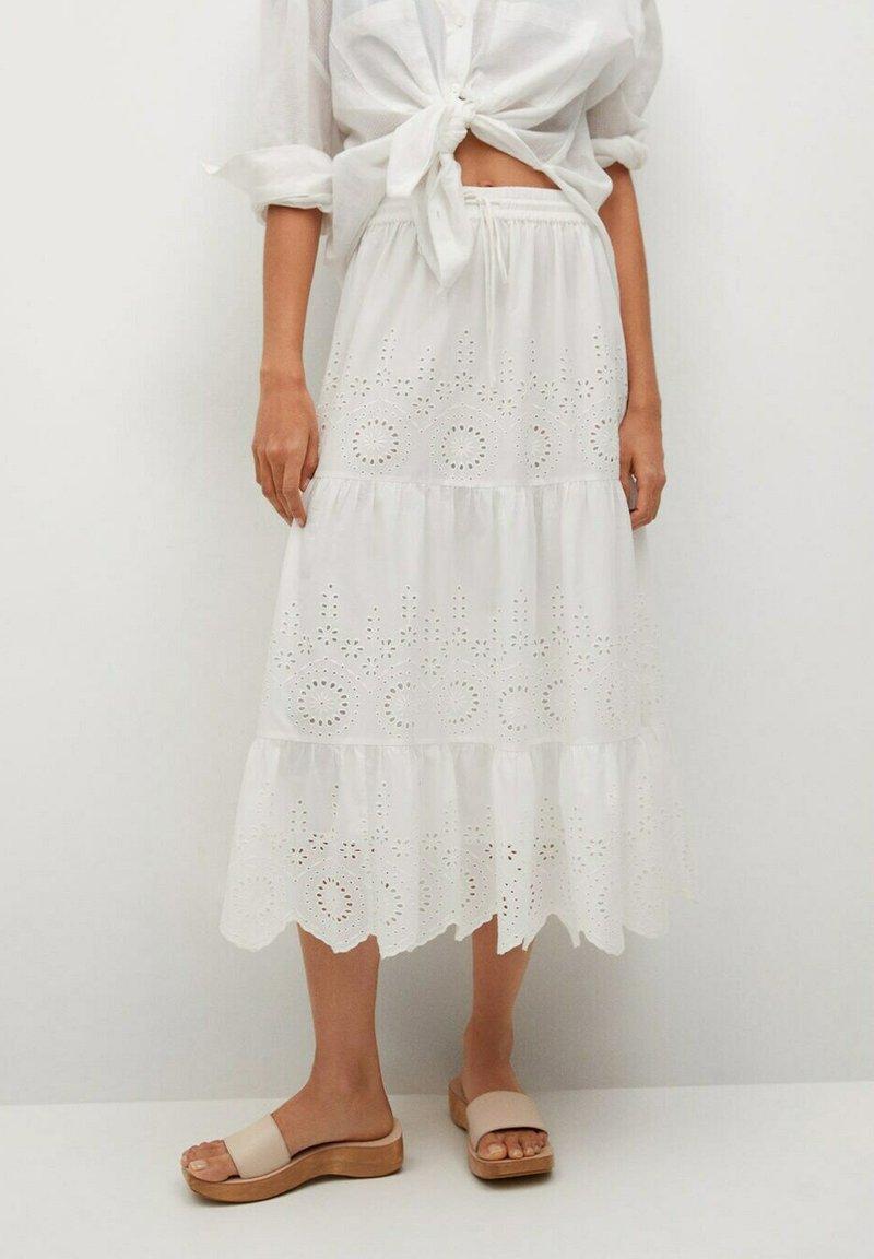 Mango - A-line skirt - hvit