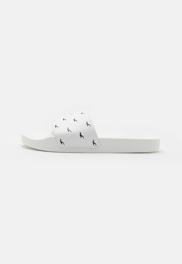 LOGO SLIDE - Pantofle - white