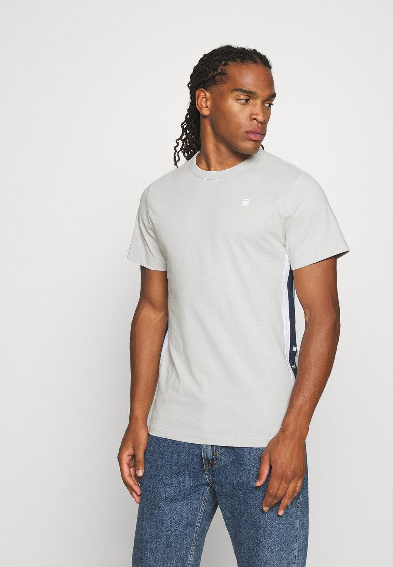 G-Star - SIDE STRIPE GR R T S\S - T-shirt print - cool grey