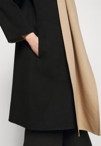 Theory - SCARF COAT LUXE NEW - Classic coat - black/palomino - 8