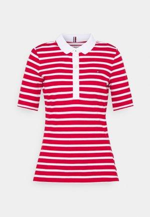 SLIM BRETON STRIPE - Polo shirt - primary red