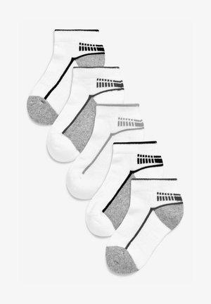 FIVE PACK  - Trainer socks - white