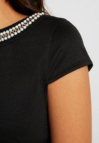 Vila - VISABINE CAPSLEEVE PEARL DRESS - Korte jurk - black - 5