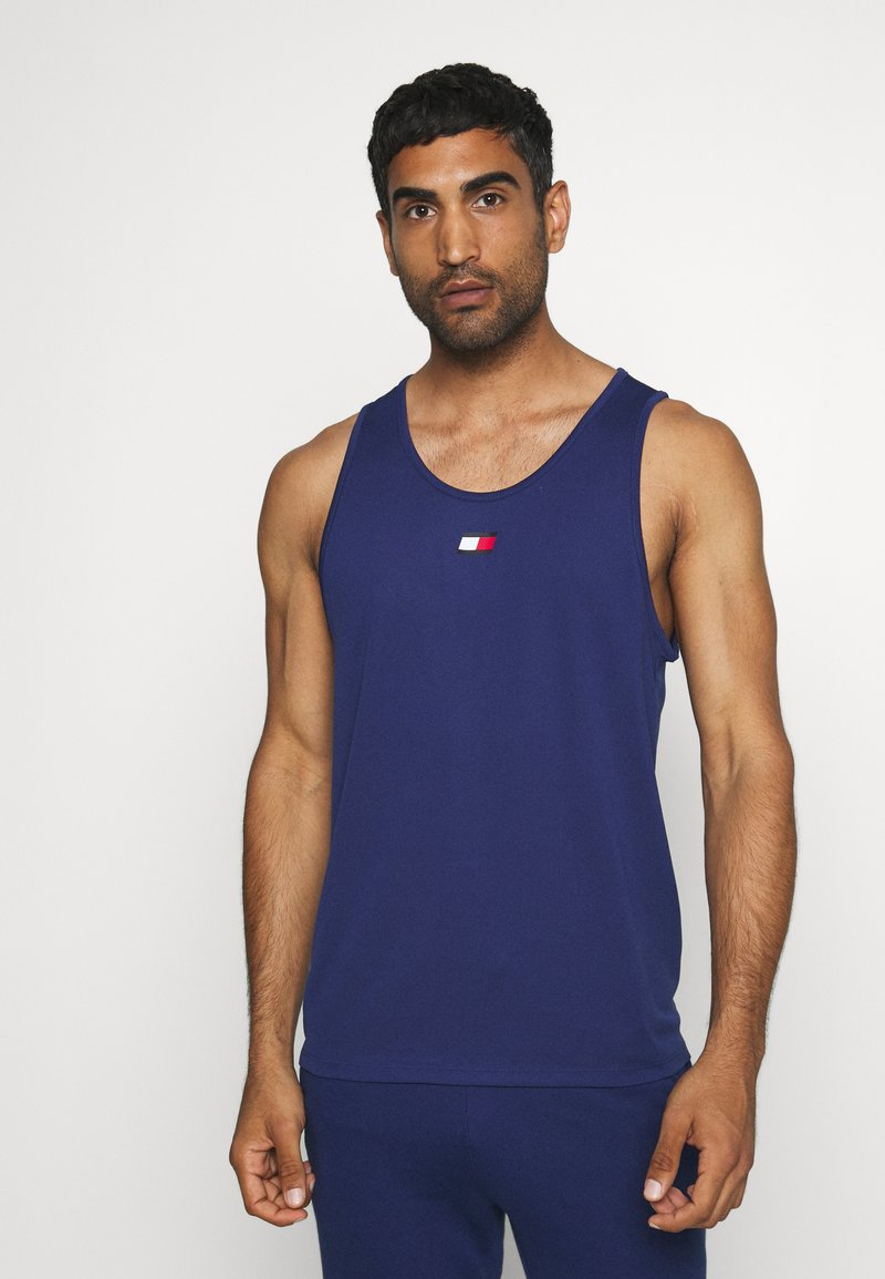 Tommy Sport - TRAINING TANK LOGO - Sportshirt - blue