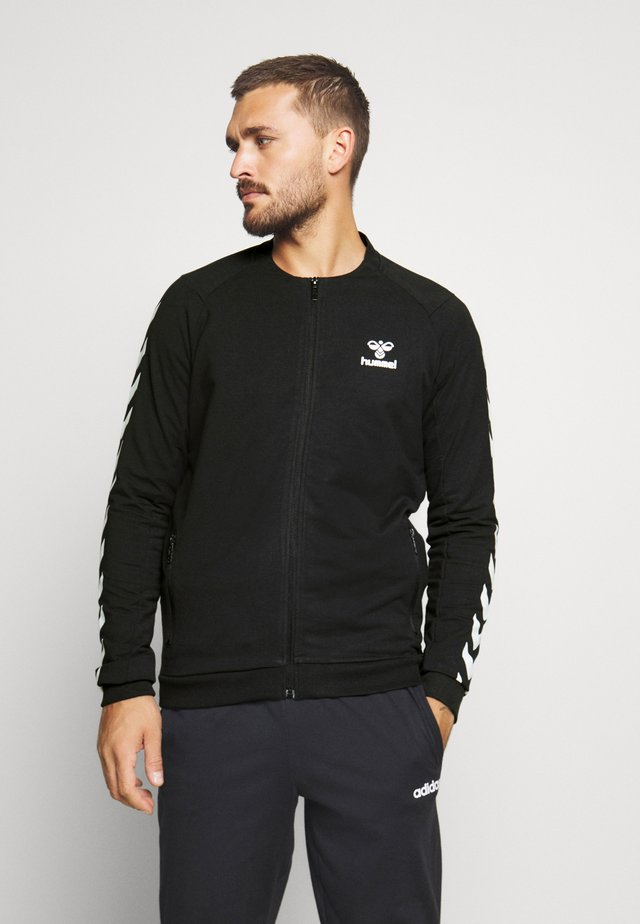 HMLRAY ZIP JACKET - veste en sweat zippée - black
