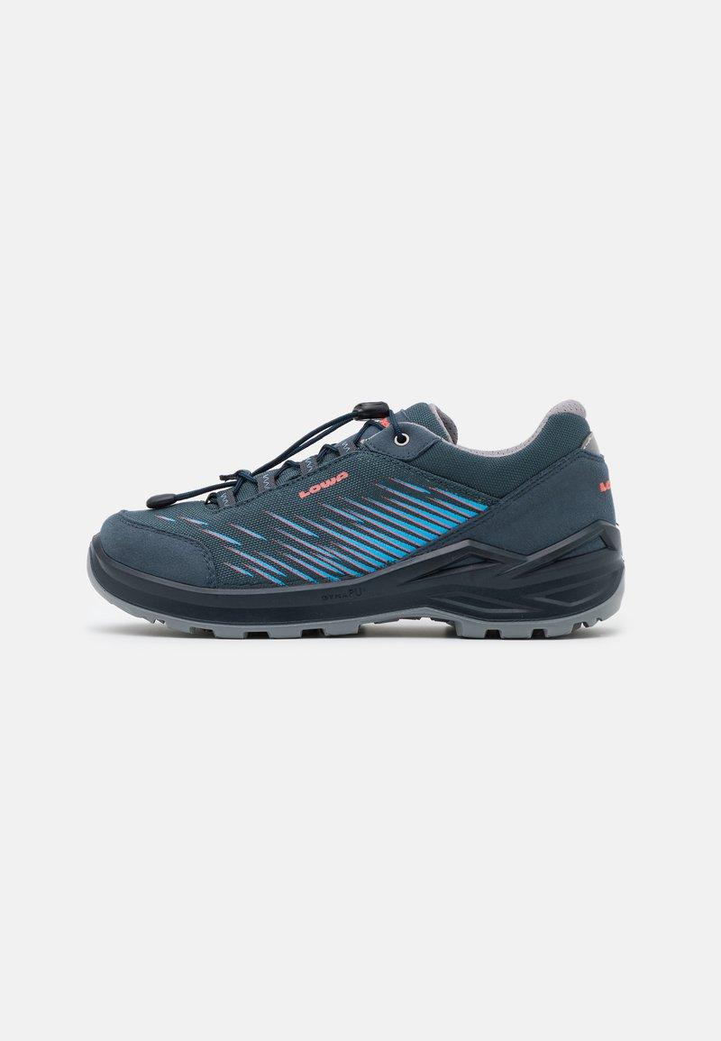 Lowa - ZIRROX GTX JUNIOR UNISEX - Hiking shoes - stahlblau/rosé