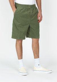 Carhartt WIP - Shorts - mottled dark green - 0