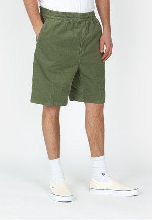 Shorts - mottled dark green