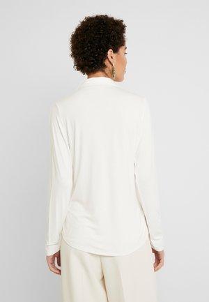 BLOUSE LONG SLEEVE COLLAR - Košile - soft white
