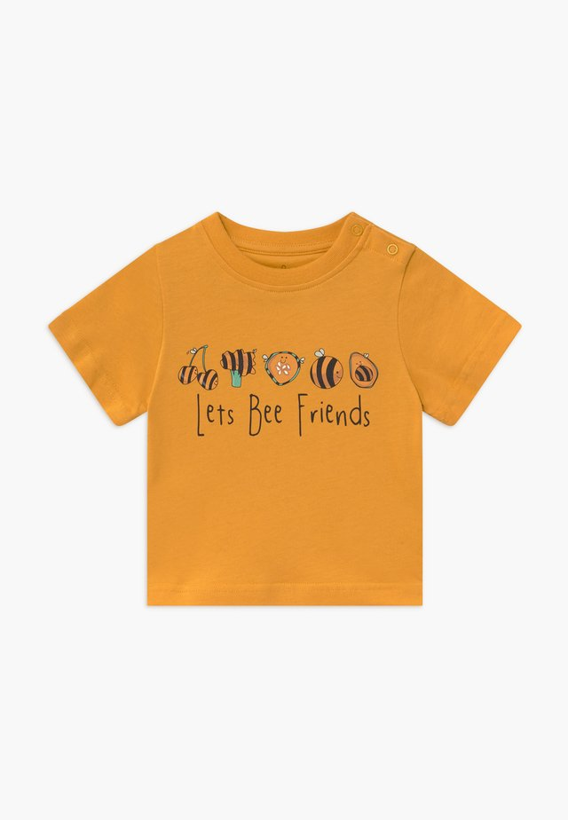 TEE LET'S BEE FRIENDS BABY - Print T-shirt - mustard