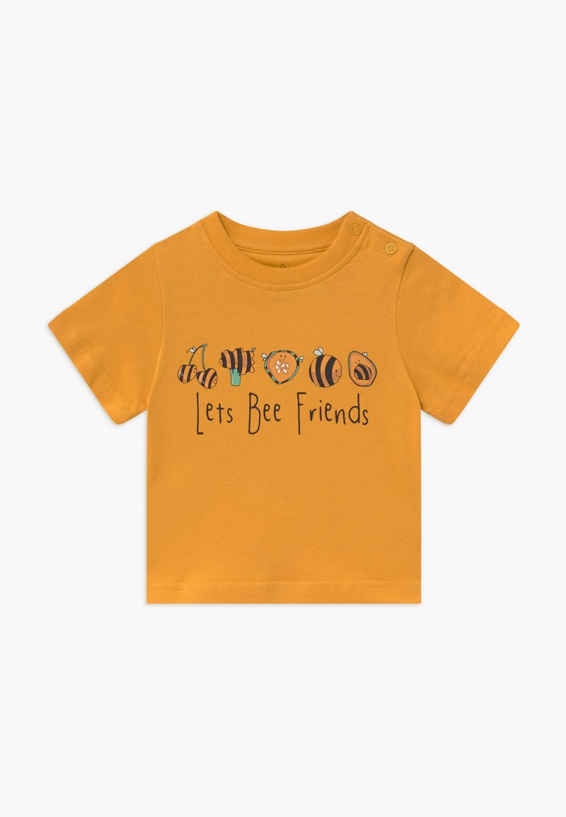 Lucy & Sam - TEE LET'S BEE FRIENDS BABY - T-shirt con stampa - mustard