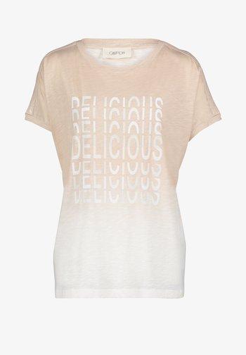 MIT PRINT - Print T-shirt - beige