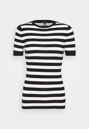 JOLIE - T-shirt con stampa - black/offwhite