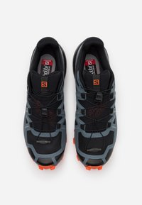 Salomon - SPEEDCROSS 5 - Scarpe da trail running - black/stormy weather/red orange - 3