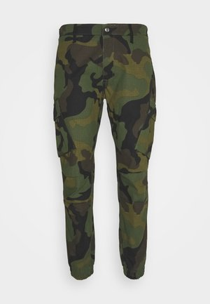 FITTED CUFF PANTS - Pantalon cargo - green