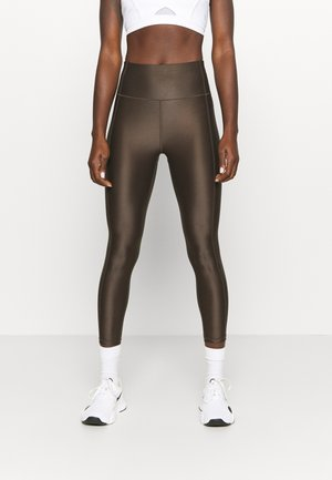 HIGH SHINE 7/8 WORKOUT LEGGINGS - Leggings - turkish coffee brown