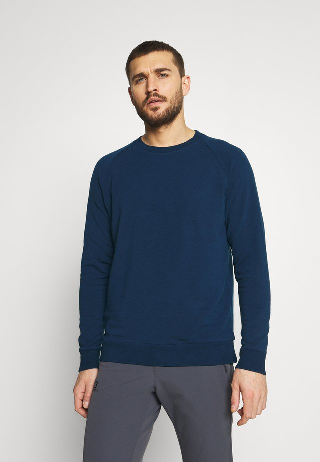 NATURE HELLIERS CREW - Sweatshirt - true indigo dark