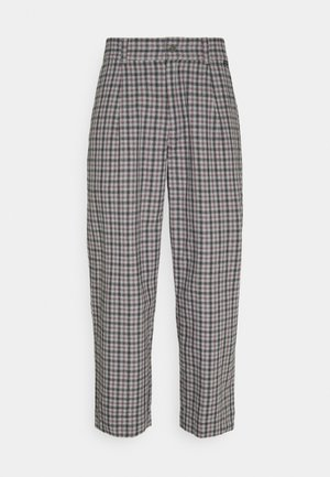 LEVERAGE CHECK SUIT PANT - Tygbyxor - drizzle