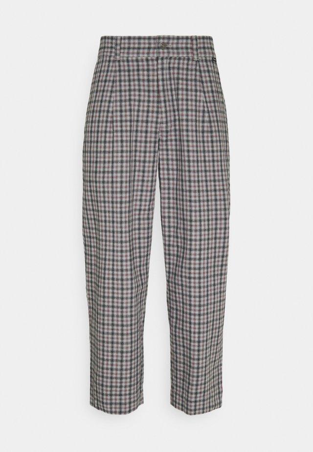 LEVERAGE CHECK SUIT PANT - Kalhoty - drizzle