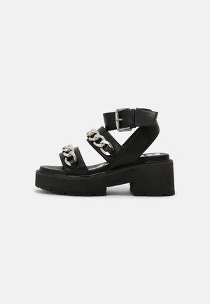 VEGAN ROCKET - Platform sandals - black