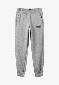 Puma - ESS LOGO SWEAT PANTS FL CL B - Tracksuit bottoms - medium gray heather - 3