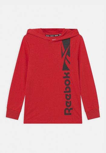 HALF TONE GRADIENT - Maglietta a manica lunga - red
