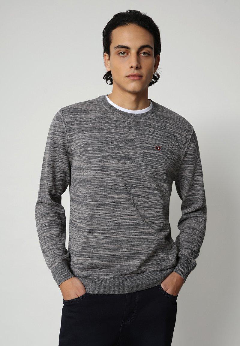 Napapijri - DUEVILLE CREW - Pullover - dark grey melange