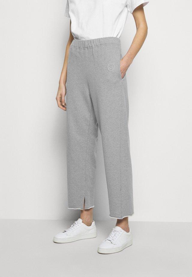 Teplákové kalhoty - melange grey