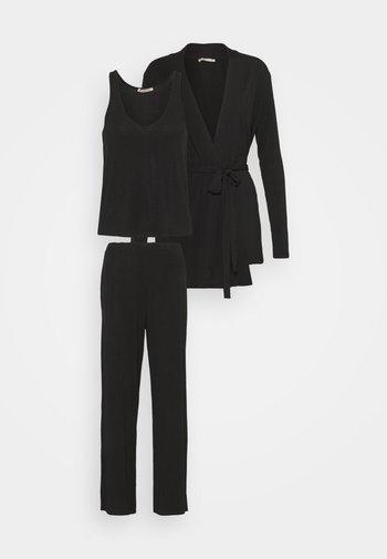 3 PIECE LOUNGE SET - Pyžamová sada - black