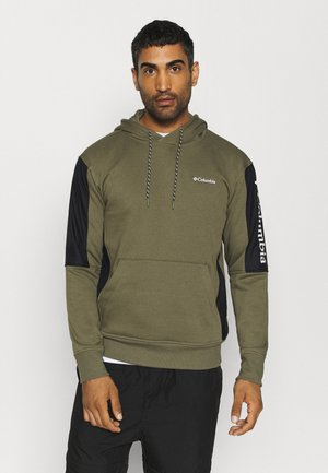 MINAM RIVERHOODIE - Sweat à capuche - stone green/black/white