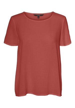 Print T-shirt - marsala