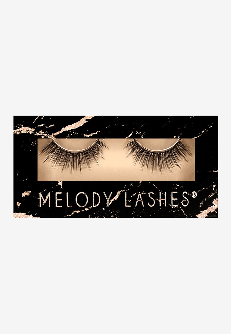 Melody Lashes - POPPY - False eyelashes - black