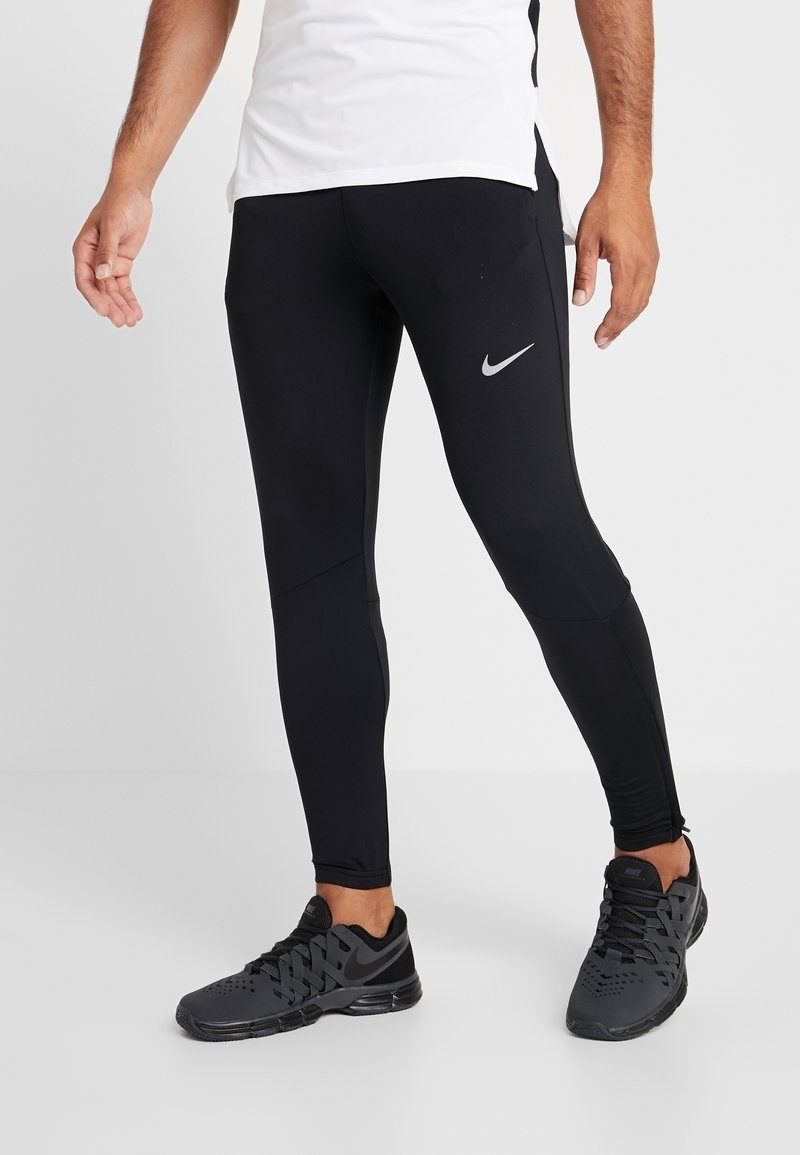 Nike Performance - ESSENTIAL PANT - Tracksuit bottoms - black/reflective silver