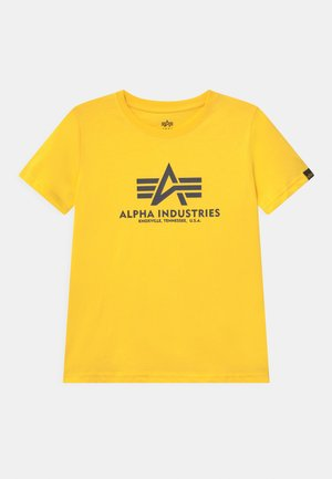 BASIC - T-shirt print - empire yellow