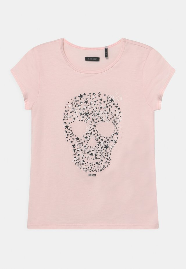 T-shirts print - rose pâle