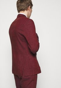 Frescobol Carioca - UNSTRUCTURED DOUBLE BREASTED - Suit jacket - dark red - 3
