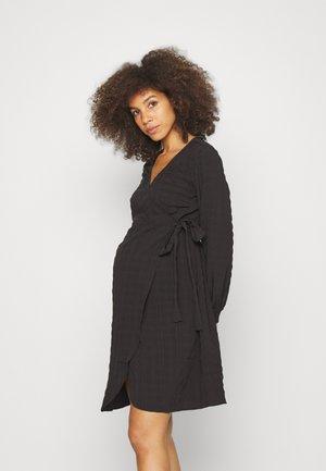 PMSERENA WRAP DRESS  - Vapaa-ajan mekko - black