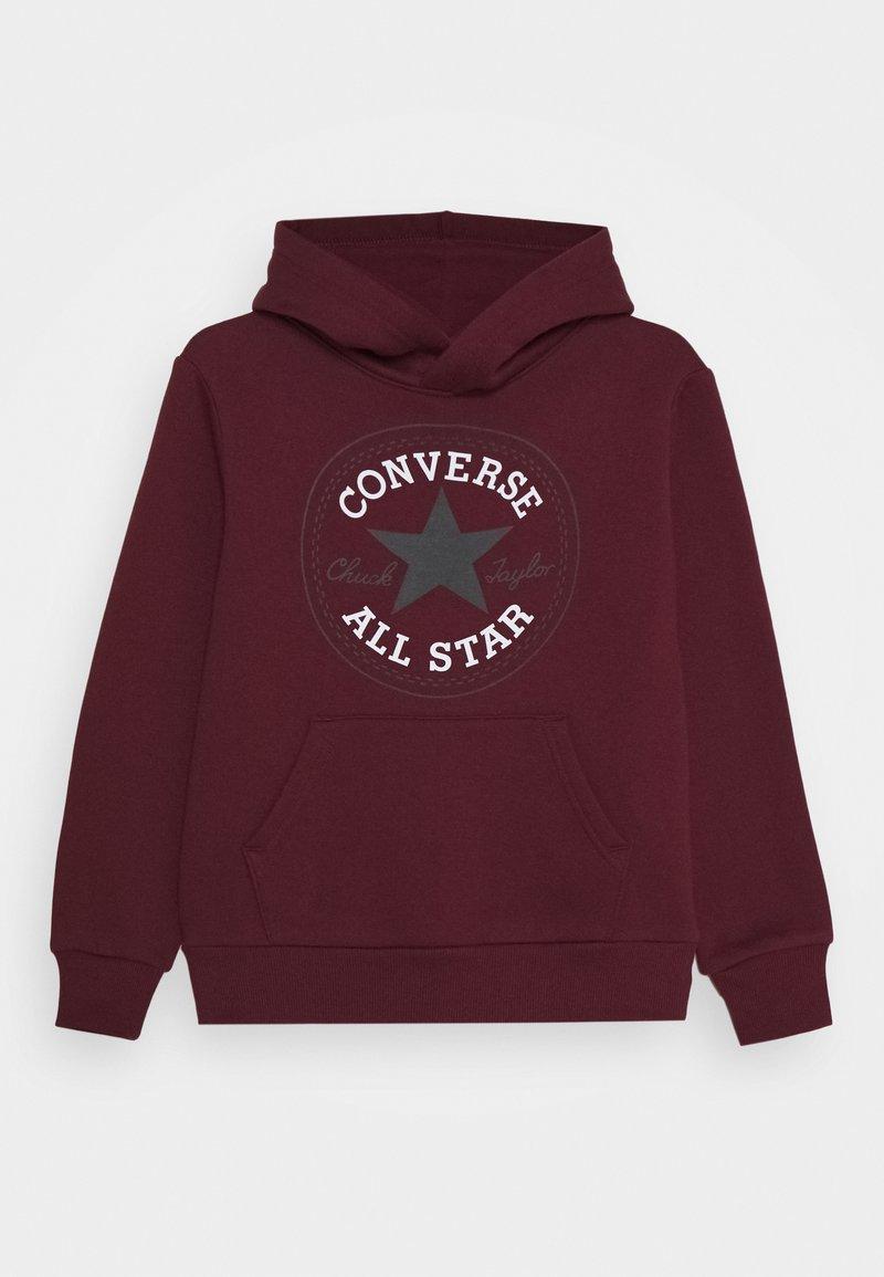 Converse - CHUCK PATCH HOODIE  - Felpa con cappuccio - dark burgundy