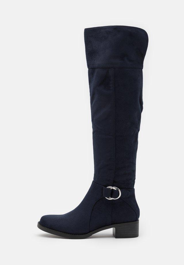 HAMLET - Overknee laarzen - navy