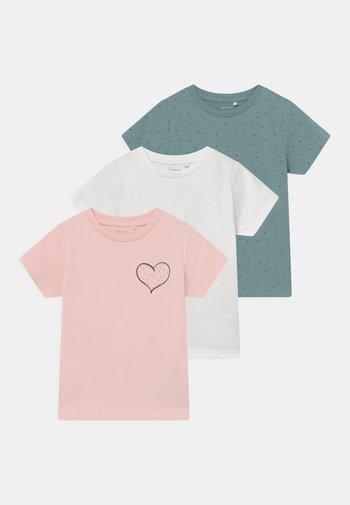 NBFLOTUS 3 PACK - Print T-shirt - peachskin