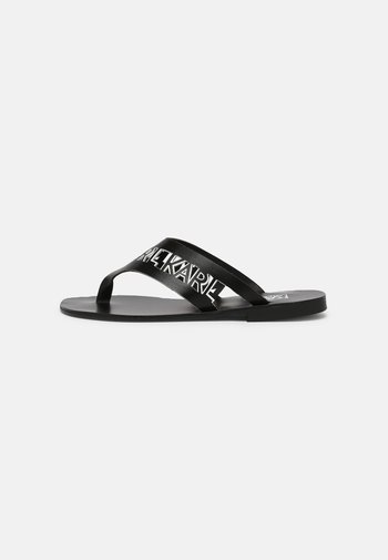 SKOOT KARL KUT-OUT THONG - T-bar sandals - black
