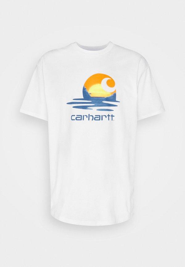 Carhartt WIP LAGOON - T-shirt z nadrukiem - white/biały Odzież Męska ZODI