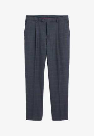 REGULAR FIT CHECK SUIT - Pantaloni eleganti - blue