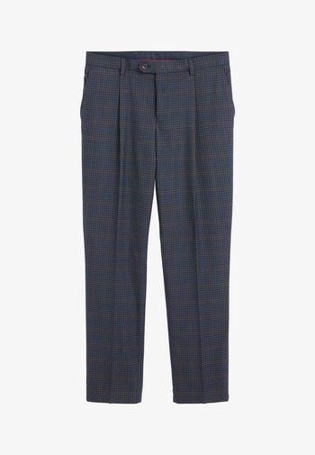 REGULAR FIT CHECK SUIT - Suit trousers - blue