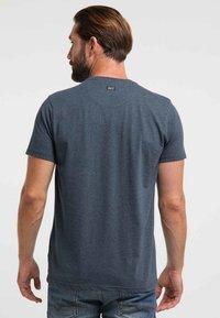 Petrol Industries - Print T-shirt - deep navy - 2