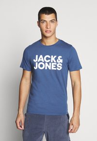 Jack & Jones - JJECORP LOGO TEE O-NECK - Print T-shirt - denim blue - 0